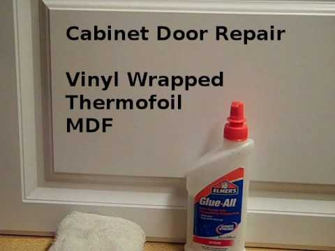 Repair Loose Vinyl Cabinet Door Edges  YouTube - Can You Re Laminate Kitchen Cabinets