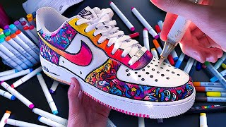Custom DOODLE Air Force 1's !! 🖍👟 (sAtiSfyiNg)