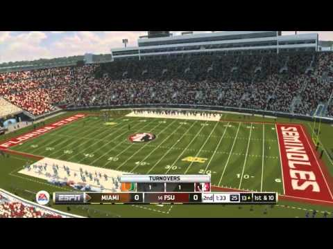 NCAA Football 14 - Florida Sate vs Miami (with Commentary)