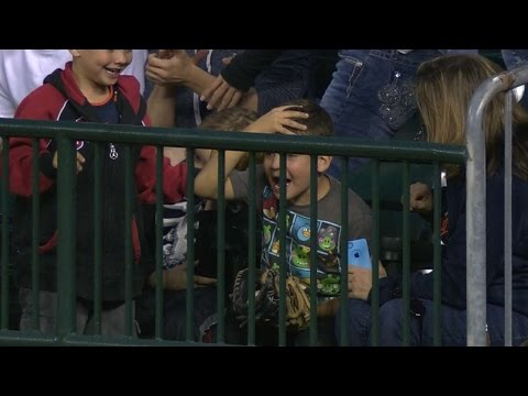 Young fan upset after catching grand slam
