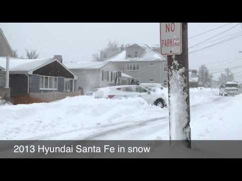 2013 Hyundai Santa Fe In 3 Feet Of Snow ( Review )