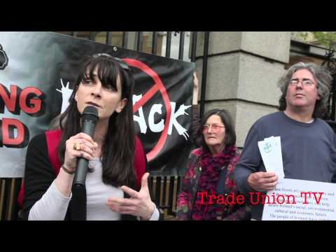 Natural Resources Alliance protest Leah Doherty, No Fracking Ireland