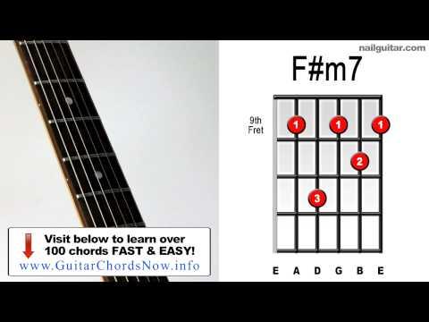 F#m7 Chord Tab F#m7 ♫♬ Guitar c