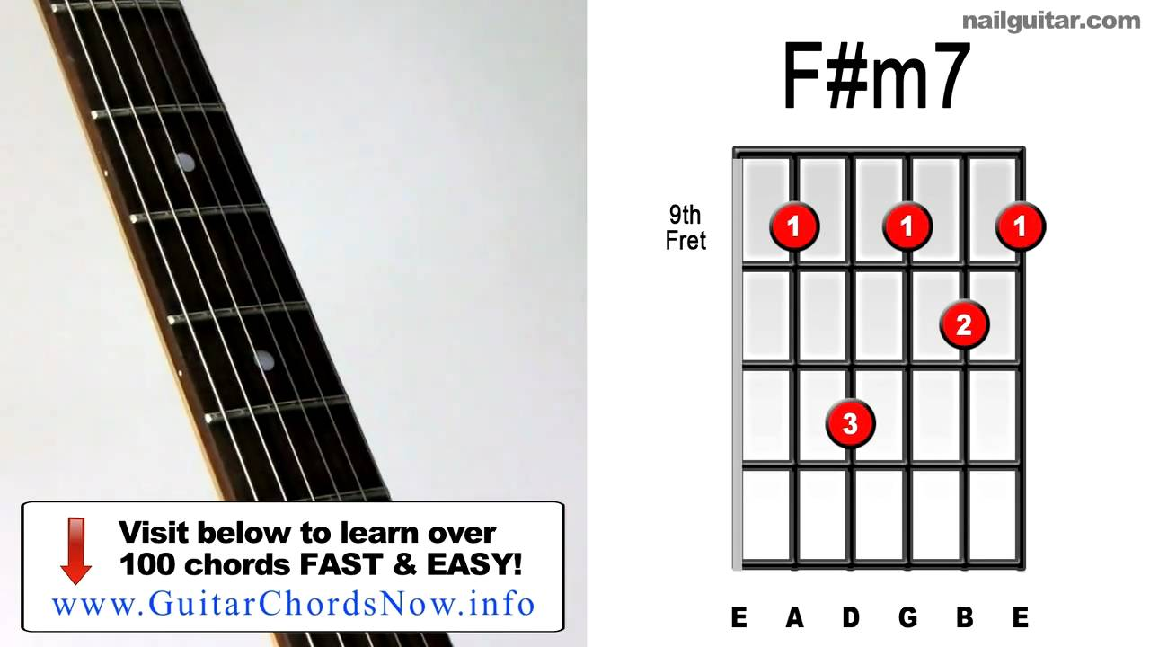 F#m7 Chord Guitar Finger Position F#m7 ♫♬ Guitar Chord