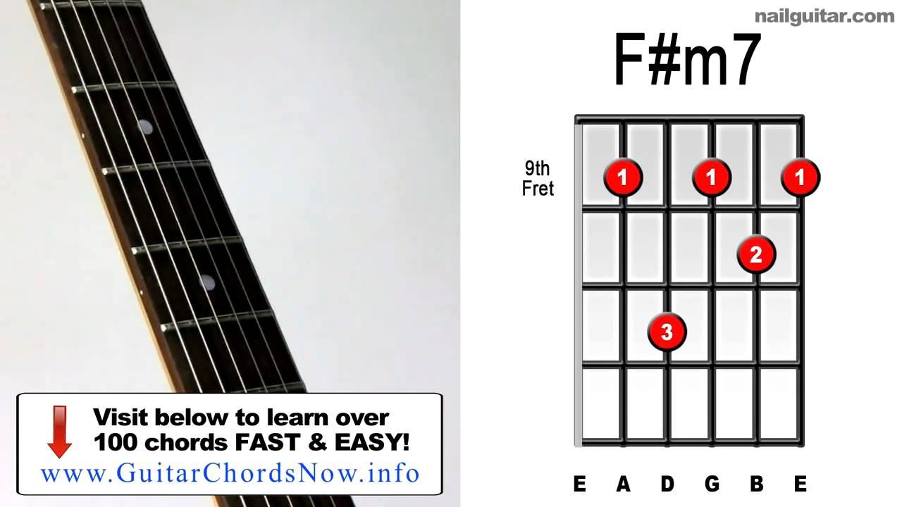F#m7-5 Chord F#m7 ♫♬ Guitar Chord