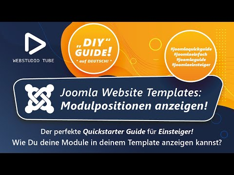 Joomla 3 Tutorial - Modulpositionen in Responsive Template anzeigen - Deutsch #9