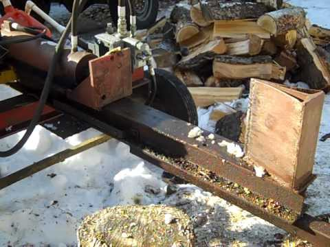 How I built my cheap hydraulic log splitter (Under $200) - Homemade log splitter