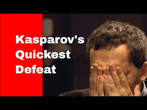 Kasparov's quickest defeat: Deep Blue (Computer) vs Garry Kasparov 1997