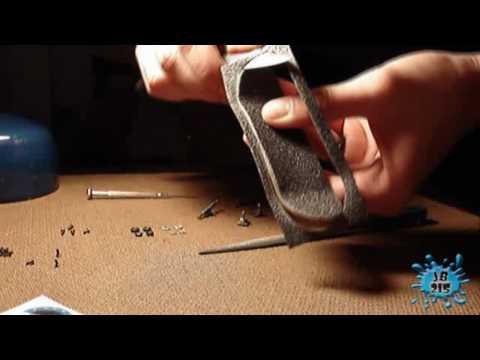 Camo blue graphic homemade deck - Fingerboard setup