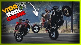 🔴 GTA V : VIDA REAL ONLINE - ROLE DE MOTO COM O CHAPINHA DE XJ6!! #99