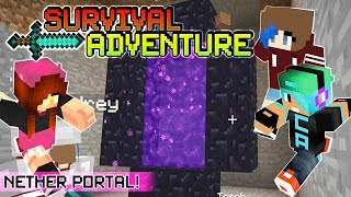 Download Lagu Survival Adventure EP8 | Our Nether Portal. Baby Chad!! | Gamer Chad & RadioJh Audrey Gratis STAFABAND