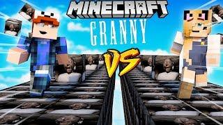SZALONY WYŚCIG! - BABUNIA LUCKY BLOCKI MINECRAFT! (Granny Lucky Block Race) | Vito vs Bella