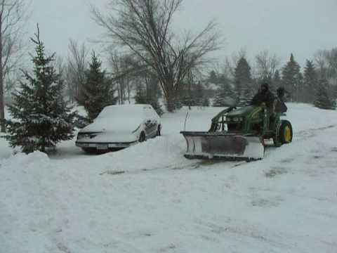 John Deere 2320 Tractor Homemade Snowplow Loader Attachment