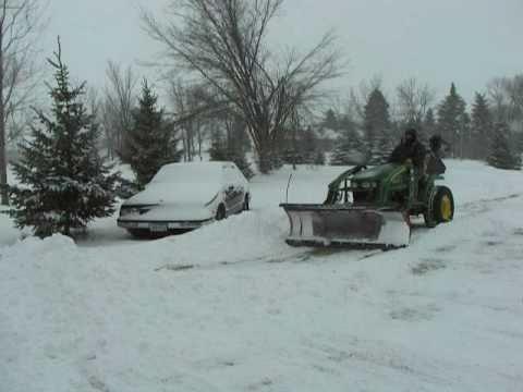 John Deere 2320 Tractor Homemade Snowplow Loader Attachment