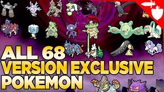 ALL 68 Version Exclusive Pokemon in Pokemon Sword and Shield