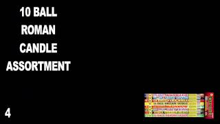 10 BALL MULTI EFFECT ROMAN CANDLE  - WORLD CLASS