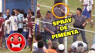 Polícia Militar do Espírito Santo ataca jogadores com spray de pimenta