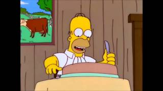 The Simpsons - Steak eating contest