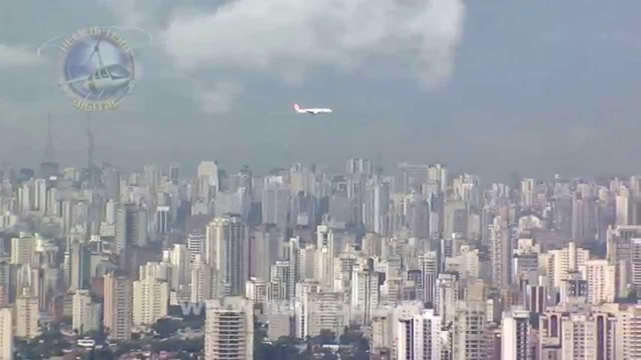 Spectacular landing at Congonhas Airport, Sao Paulo ...
