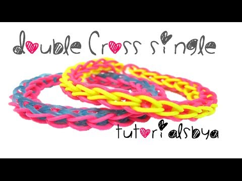 Double Cross Single Rainbow Loom Bracelet Tutorial
