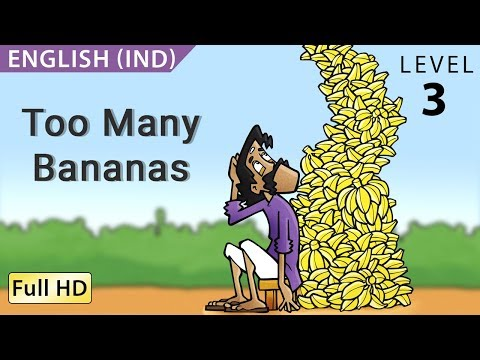 Too Many Bananas: Learn English (uk) With Subtitles - Story For Children bookbox video