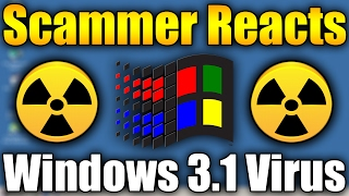 Scammer Reacts To Windows 3.1 Update Virus | Scammer Tries To DESTROY VM | Scammer Trolling