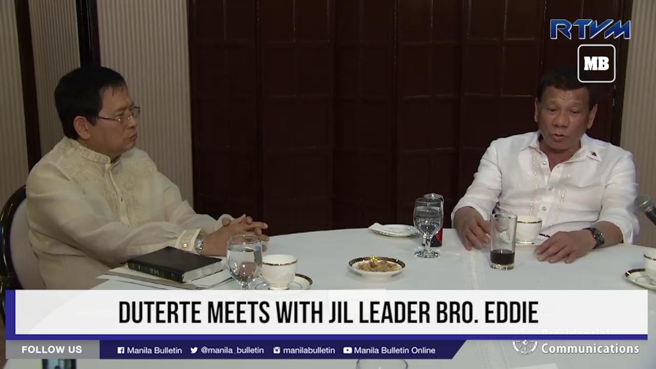 Duterte meets with JIL leader Bro  Eddie