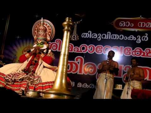 Karnasapatham Kathakali-3, Kalamandalam Gopi As Karnan video
