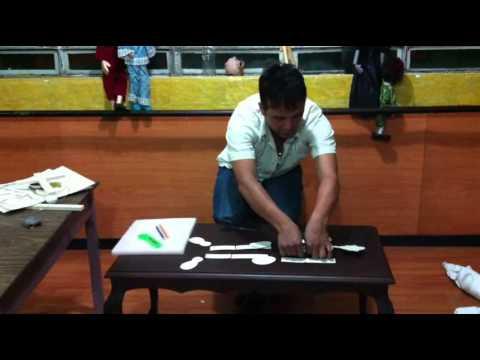 Como Hacer una Marioneta Con Carlitos Moreno. Don Eloy Colombia S. Felices