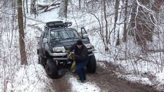 ГЛУБОКИЙ ЯР Toyota LC 70 Great Wall and Niva 4x4 offroad