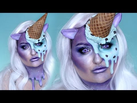 ICE CREAM UNICORN   W/ Jordan Hanz   Halloween Costume Makeup Tutorial   RawBeautyKristi