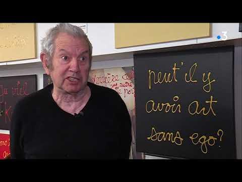 Ben Vautier s'exprime après le vol d'un de ses panneaux dans le vieux Nice