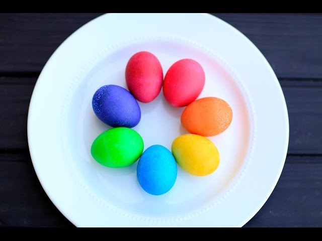 DIY Vibrant Easter Egg Colors | Brooklyn and Bailey