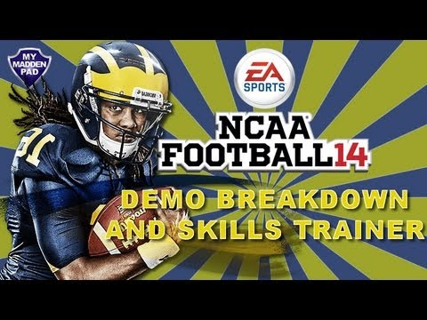 NCAA Football 14 Demo - Breakdown of What's New and Skills Trainer