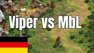 AoE2   Arabia 1v1s: Viper vs MbL (German)