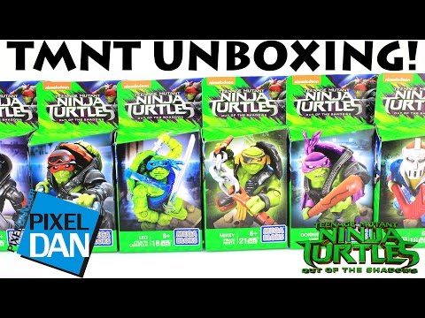 Teenage Mutant Ninja Turtles Out of the Shadows MegaBloks Mini Figures Unboxing and Review