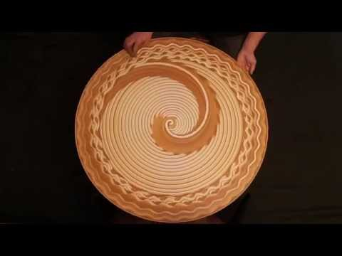 Check Out These Neat Designs On A Spinning Wheel!