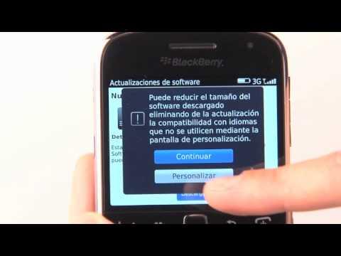 Actualización de software para BlackBerry