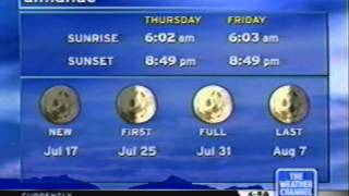 [VHS] The Weather Channel - 7/15/04 - Butler PA IS1v1 + MANY LFs