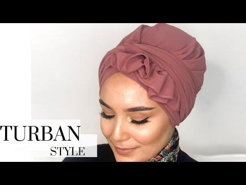 Ruffled #turban Style I kolay türban modeli - YouTube
