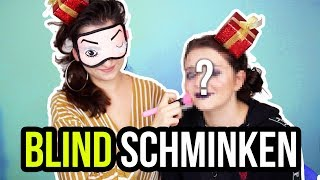 BLIND SCHMINKEN CHALLENGE - LAURA schminkt ALLY blind! :D - unlikely
