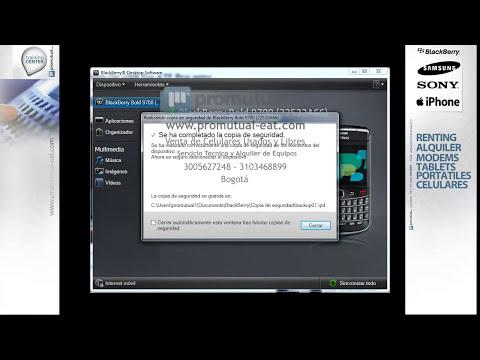 Como hacer la copia de seguridad o backup de solo contactos en Blackberry 8520 9300 9550 y otras