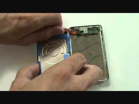 iPod 4th Generation Hard Drive Cable Adjustment Removal Tutorial   GadgetMenders.com