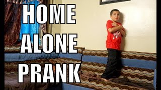 HOME ALONE PRANK ON 8 YEAR OLD!!
