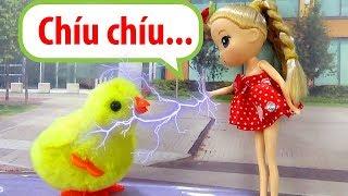 Chibi đỏ và chú gà con - A194M - Nữ hoàng búp bê baby doll