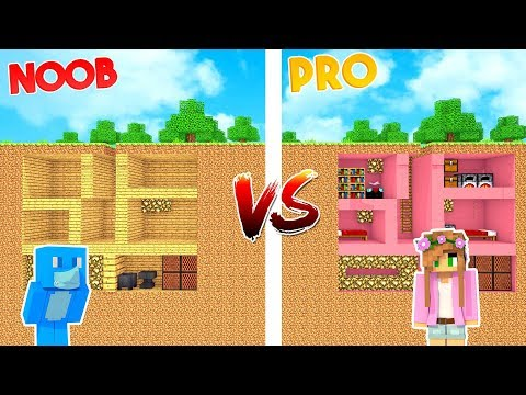THE SECRET BUNKER! *MOST SECURE NOOB vs PRO* | Minecraft Little Kelly