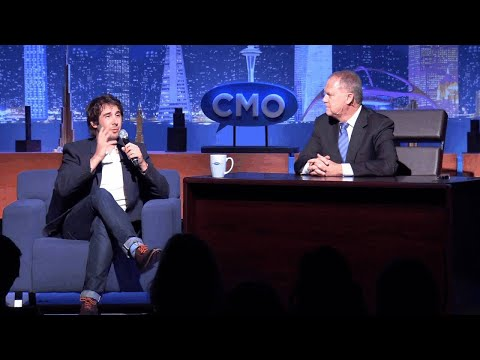 Pete Krainik interviews Josh Groban at The CMO Club Innovation and Inspiration Summit 3/24/14