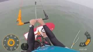 Kite Foiling with GPS Dashboard