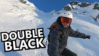 Scary Double Black Snowboarding in Whistler