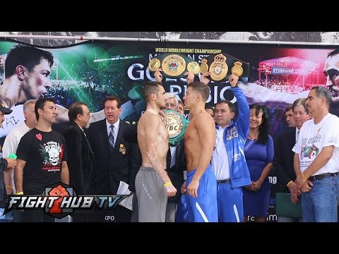 Gennady Golovkin vs. Marco Antonio Rubio  Donaire vs. Walters full weigh in & face off video